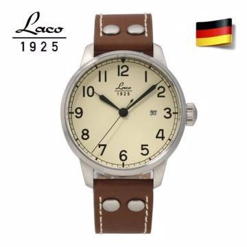 德國原裝進口 Laco 朗坤 861611N 德國海軍系列 背透自動機械錶 男錶