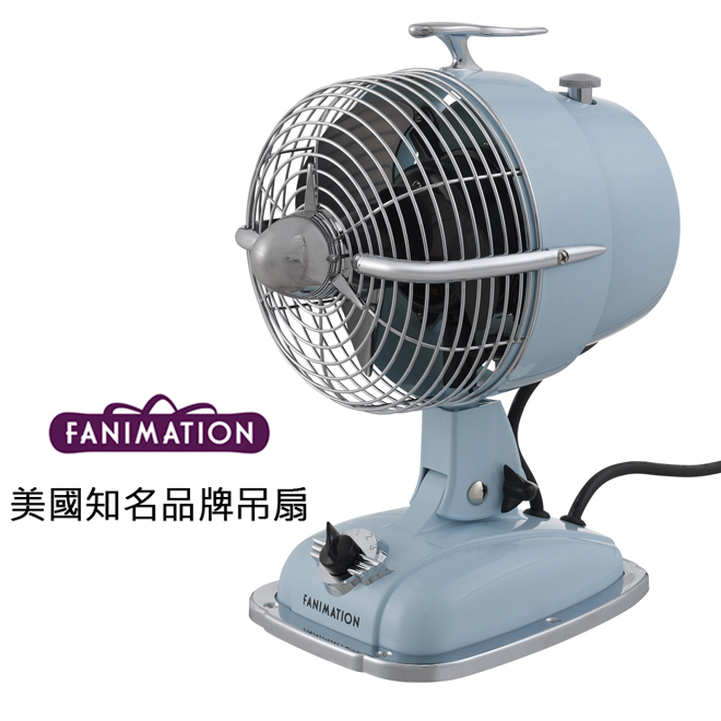 [top fan] Fanimation Urbanjet 7英吋桌扇(FP7958BB)天使藍色