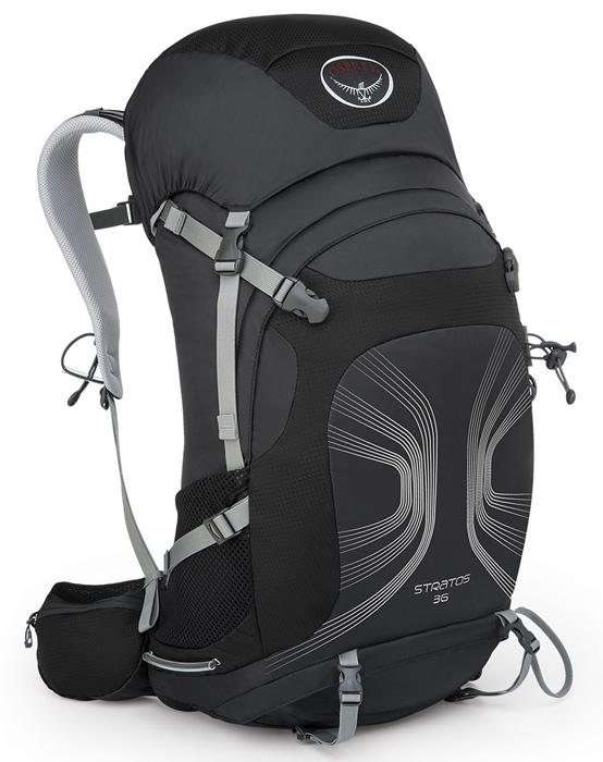 【鄉野情戶外專業】 Osprey |美國|  STRATOS 36 登山背包/自助旅行背包 健行背包-煤黑M/L/Stratos36 【容量36L】