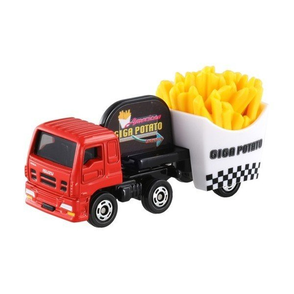 【真愛日本】16042600001 TOMY小車-五十鈴GIGA薯條車 TOMY多美小汽車 小車 模型 收藏 玩具