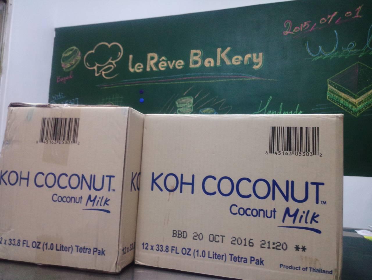 【團購現貨供應】KOH 泰國進口無防腐劑天然椰奶 - 一公升★ 利樂包包裝★ 85折優惠