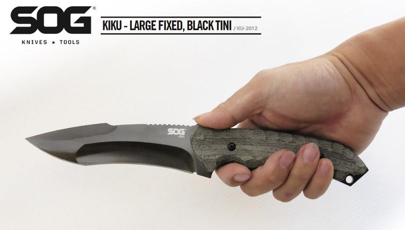 SOG KIKU LARGE FIXED 直刀(黑刃) #SOG KU-2012