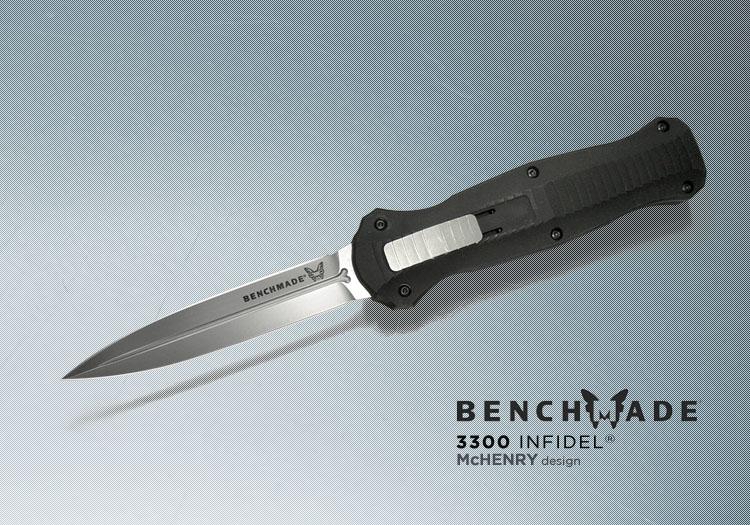 BENCHMADE Infidel 彈簧刀 (白刃) #BENCH 3300