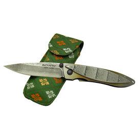 MCUSTA 和風設計大馬士革鋼折刀(梯田)-#MCUSTA MC-32D
