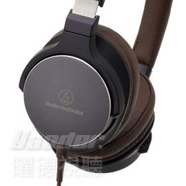 【曜德視聽】鐵三角 ATH-SR5 海軍藍/棕色 單邊出線耳罩式耳機 智慧型 線控功能★免運★送收納盒★