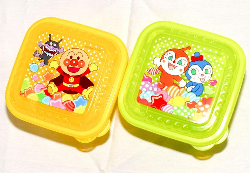 麵包超人 可微波 方形 兩個一組 收納盒 餐盒 置物盒 保鮮盒 日本製造正版商品