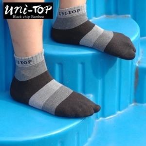 銀炭精梳棉童襪