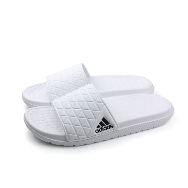 adidas 拖鞋 男鞋 白色 no342