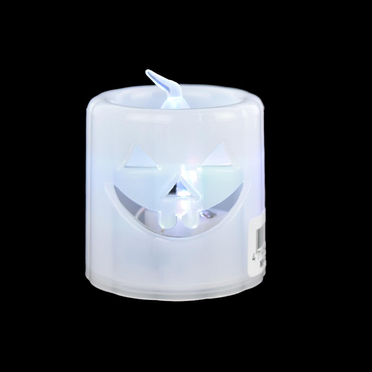 X射線【W397134】萬聖LED造型蠟燭(隨機出貨),萬聖節/蠟燭/佈置/裝飾/擺飾/會場佈置/燈籠/聲光/花燈/店面裝飾/道具/鬼臉/發光
