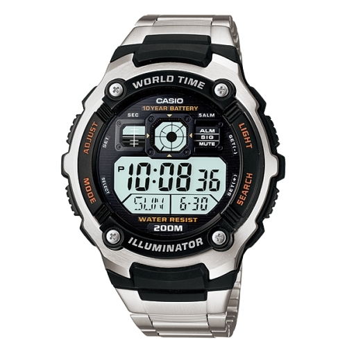 CASIO 十年電力航空時尚數位腕錶/防水200米/AE-2000WD-1AVDF
