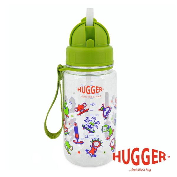 【英國 Hugger】Tritan 彈跳吸管水壺 - 怪獸