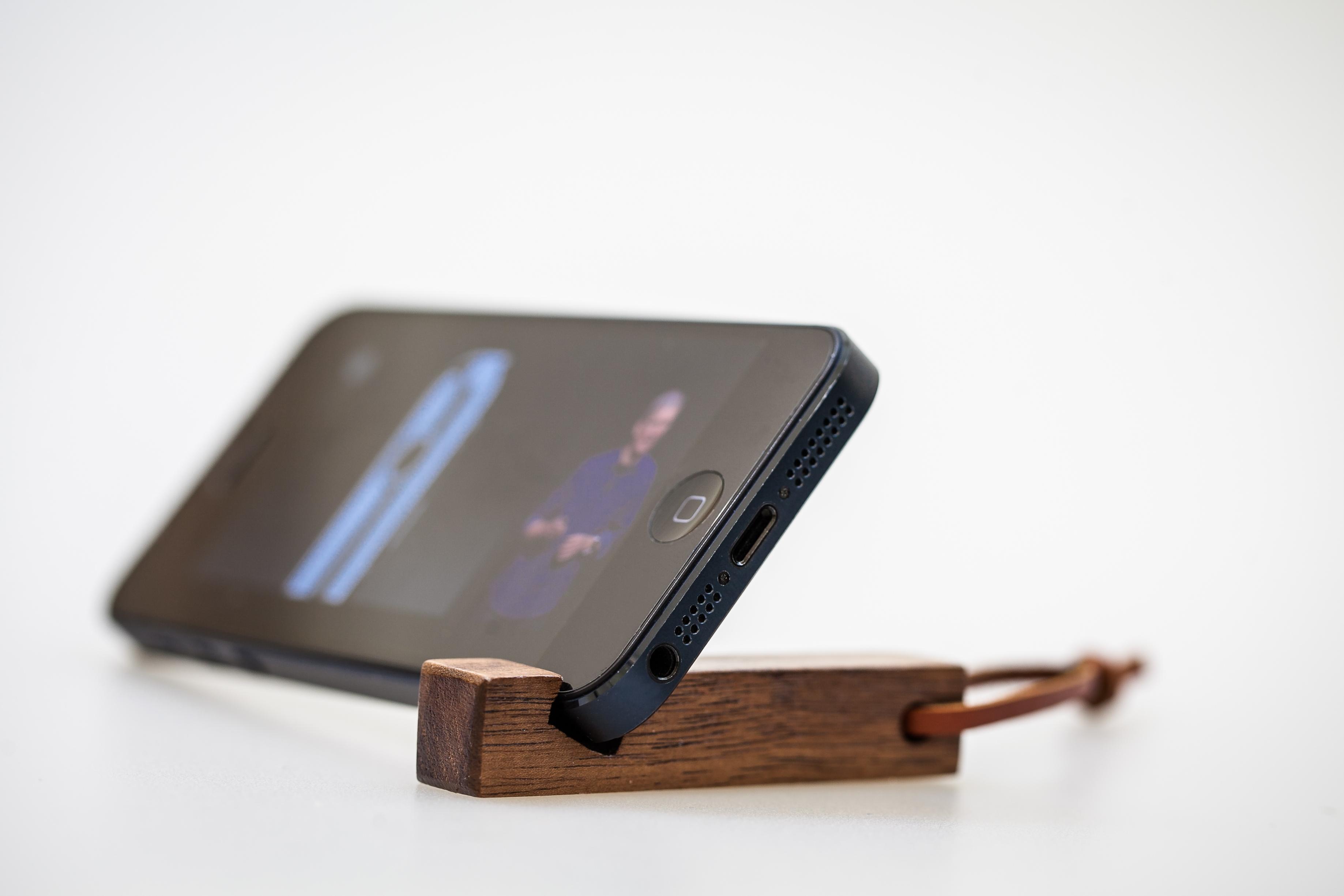 石三木廠 idwood 原木鑰匙圈 手機座