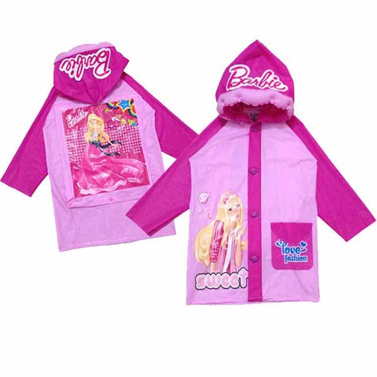 購GO購-團購網 迪士尼 KT 芭比 公主 充氣帽沿 有書包位 雨衣 兒童雨衣 女生系列