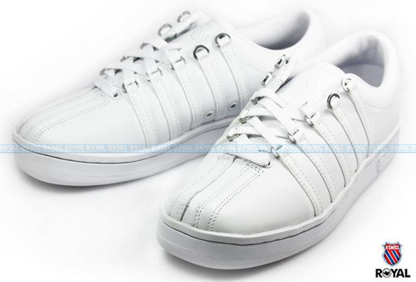 K-SWISS 新竹皇家 THE CLASSIC 白色 輕量 復古 網球鞋 女款 NO.I3837