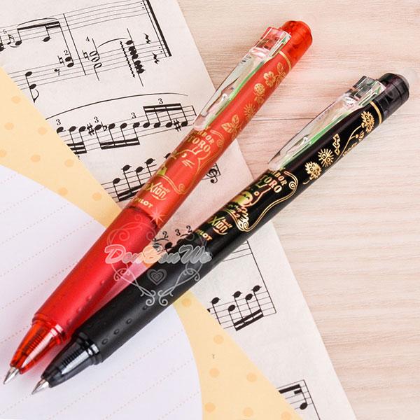 龍貓豆豆龍水性原子筆0.5mm擦擦筆書寫文具紅筆884278黑筆884261海渡