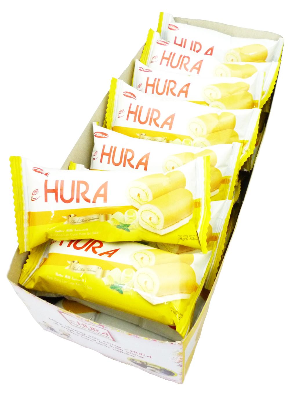 HURA 迷你瑞士捲(鮮奶油味) 360g整盒 (經常沒貨請先來信詢問)