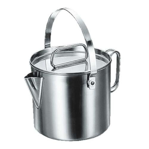 【露營趣】中和 Captain Stag 鹿牌 M-7701 不鏽鋼茶鍋具 2L 茶壺 湯鍋 煮麵鍋 燒水壺
