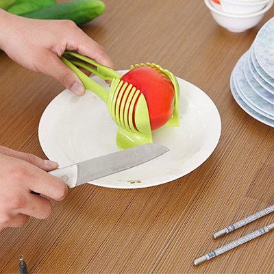 檸檬番茄切片夾子 / 廚房水果分割夾( 隨機色)