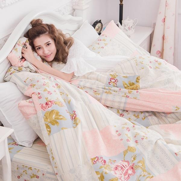 [SN]#B168#寬幅100%天然極緻純棉6x6.2尺雙人加大床包被套四件組*台灣製/SGS檢驗/床單/被單(免運)