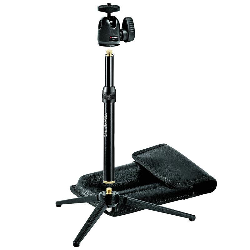 ◎相機專家◎ Manfrotto 209,492 LONG 桌上型三腳架 附延伸桿 單眼可用 345新款 正成公司貨