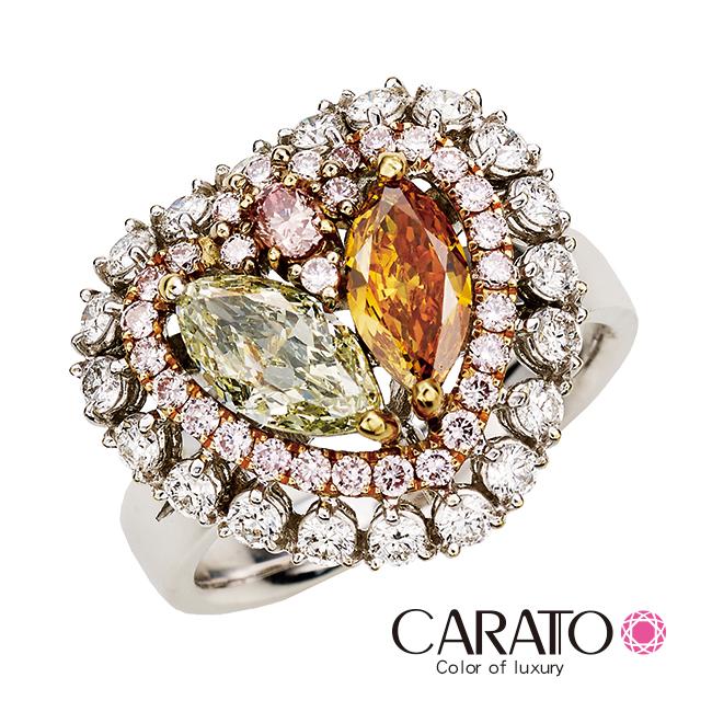 【CARATO】Love Heart-克拉多-精選彩鑽戒指