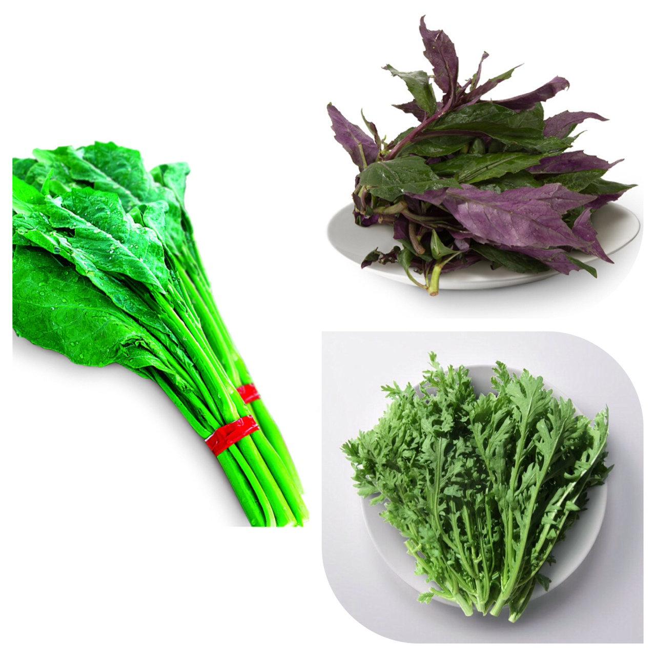 100元蔬菜包-A包(山茼蒿+芥蘭菜+紅鳳菜)