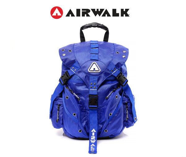 AIRWALK黑金系列-繽紛三叉系列迷你後背包-小(寶藍)