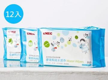 優美科純水濕紙巾 80抽 一箱12包