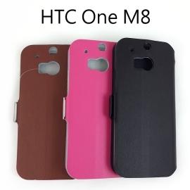 【真皮世家】HTC One M8 側開支架超薄真皮皮套