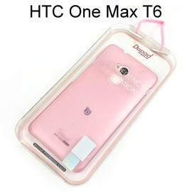【Dapad】超薄磨砂背蓋 [粉] HTC One Max T6 送專用螢幕保護貼