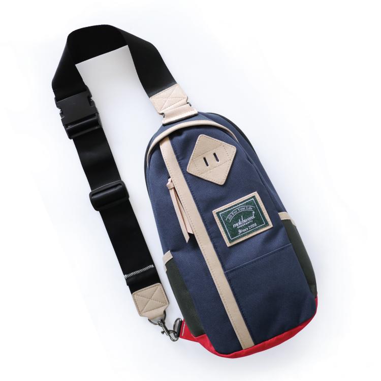 REMATCH - Matchwood Hunter 撞色單肩後背包 海軍藍款 斜背包 側背包 隨身包 胸前包 基本防水 / 運動 / 輕便 / 美式休閒 / 單車Fixed gear / Dickies / Porter / master-piece 可參考