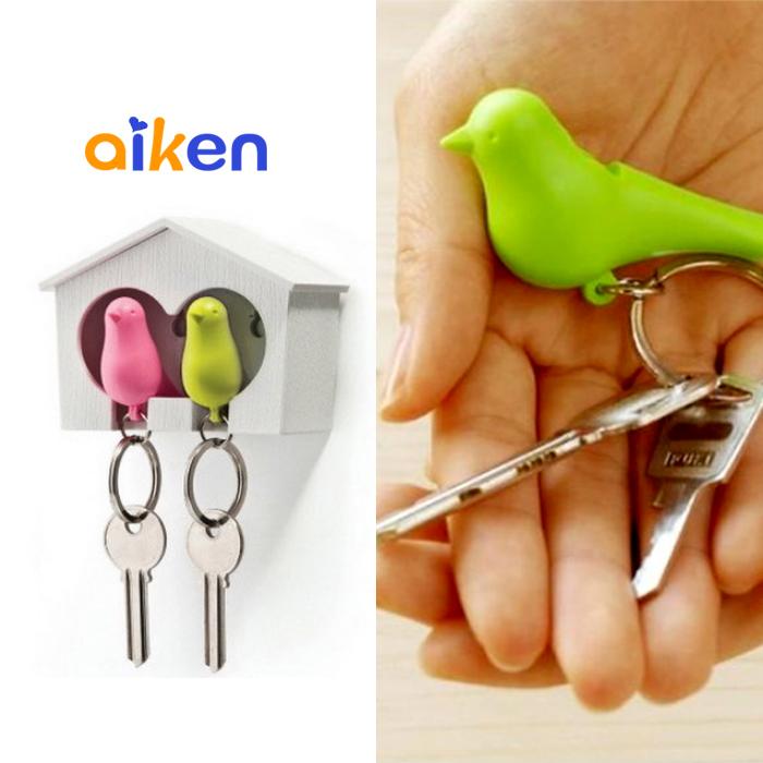 【艾肯居家生活館】小鳥鑰匙扣 情侶 鳥屋 鑰匙扣 口哨 鑰匙 婚禮小物 禮物 鑰匙圈 防身  J2611-001