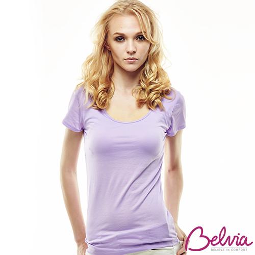 【嚴購網】Belvia貝薇雅諾貝爾零著感空氣蠶絲衣-淺紫色(送 塑身背心)