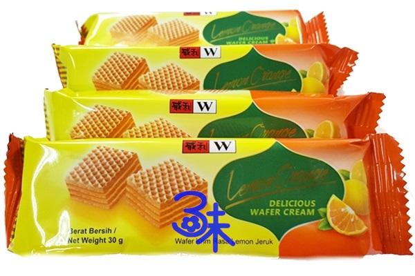 (印尼) 威利夾心酥-檸檬橘風味 1包 600公克(約19小包) 特價 91 元