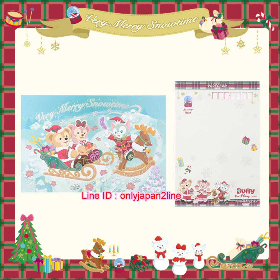 【真愛日本】16111200034聖誕節限定燙銀明信片     迪士尼 樂園限定  聖誕節  日本帶回