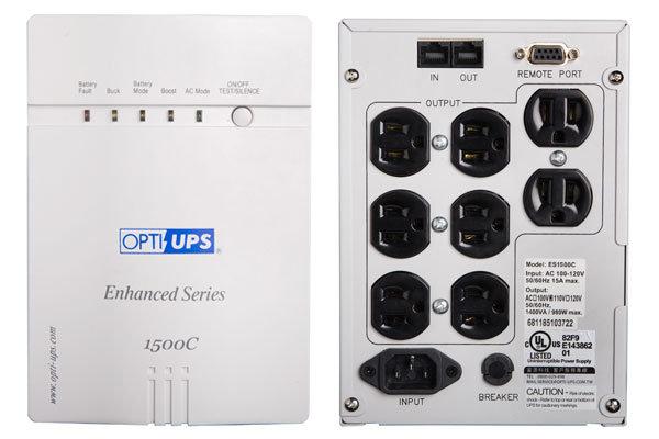 OPTI-UPS ES1000C 不斷電系統加值型 1000VA/ 700W (110V) 加值在線互動 式/階梯波