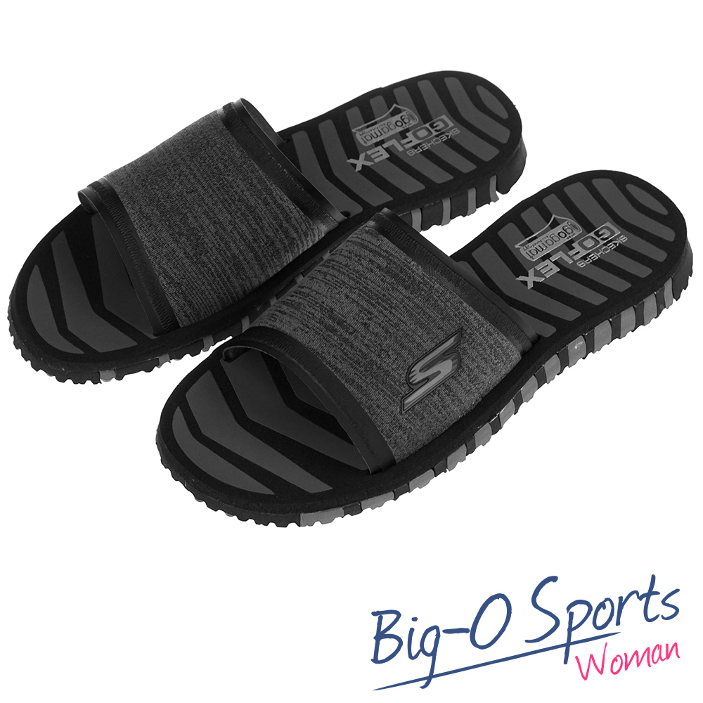 SKECHERS GO FLEX  休閒拖鞋  女 14260BKGY  Big-O Sports