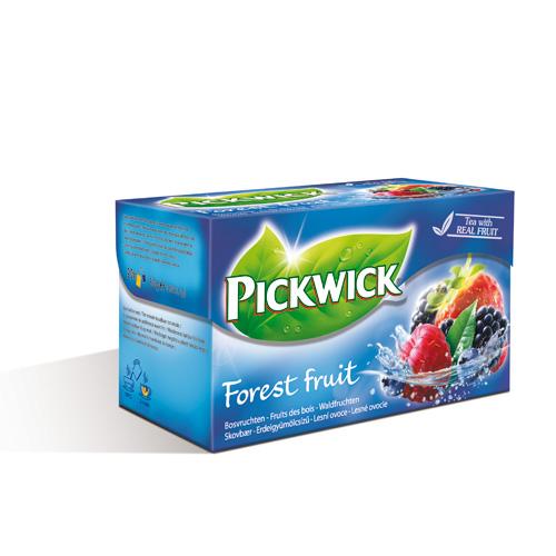 由草莓、藍莓、覆盆子、黑醋栗與香醇茶香搭配,蘊含最自然的原始風味!荷蘭PICKWICK-品味森林之果水果茶