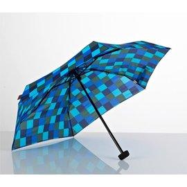 【鄉野情戶外用品店】 EuroSCHIRM |德國|  Dainty 輕巧迷你晴雨傘/玻璃纖維輕便雨傘-方格藍/1028