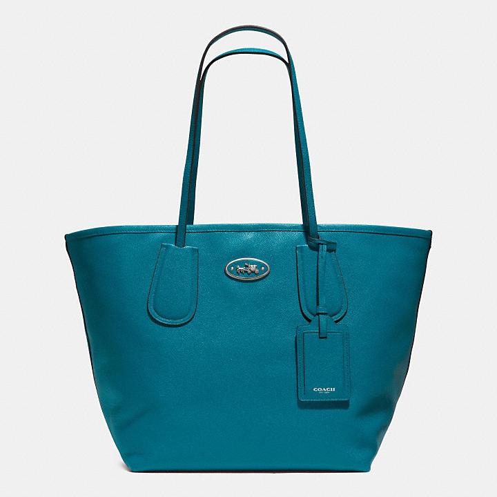 Coach 托特包 藍綠色 33581 《ibeauty愛美麗》