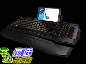 [美國直購]  ROCCAT SKELTR BLACK, SMART COMMUNICATION RGB GAMING KEYBOARD, DE LAYOUT  Art. Nr.: ROC-12-230-BK