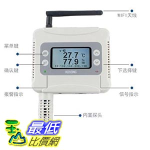 [美國直購] AW5145Y  無線溫濕度記錄儀 Ethernet WIFI Temperature Humid Transmitter USB RJ45