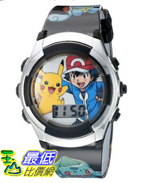 [美國直購] Pokemon Kids' POK3018 Digital Display Quartz Black Watch 手錶