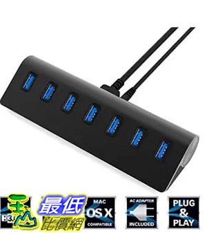 [美國直購] Sabrent HB-MC7B Premium 7孔 集線器 充電器 Aluminum USB 3.0 Hub with 5V/4A Power Adapter