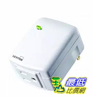 [美國直購] Leviton DZPA1-1BW Decora Z-Wave Controls 15-Amp Plug-In Appliance Module, White, Works with Amazon Alexa