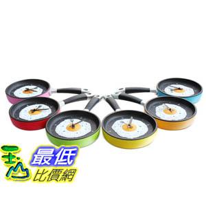 [玉山最低比價網] 創意 個性 煎蛋鍋 平底鍋 時樂鍋 造型 時鐘 掛鐘 實用方便(591451)