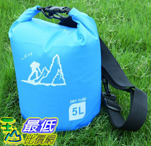[玉山最低比價網] 5公升 手提側背 防水包 防水袋 漂流袋 圓筒包 收納袋 溯溪 游泳 衝浪 泛舟(801024)