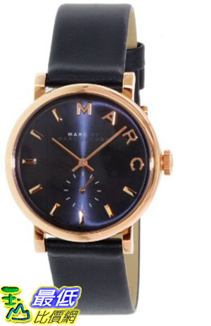 [105美國直購] Marc by Marc Jacobs Women's 女士手錶 Baker MBM1329 Royal Blue Leather Swiss Quartz Watch