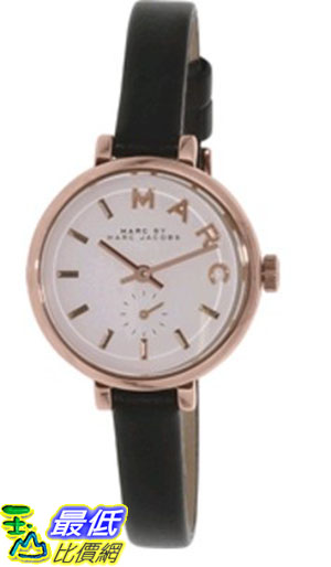 [105美國直購] Marc by Marc Jacobs Women's 女士手錶 Sally MBM1352 Black Leather Quartz Watch