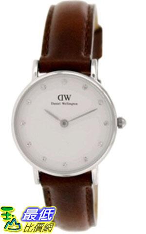 [105美國直購] Daniel Wellington Women's 女士手錶 St.Andrews 0920DW Brown Leather Quartz Watch